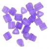 Triangular Beads 5X5mm Violet Matte Solgel